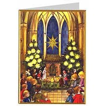 Children in Church Christmas Card ~ Germany