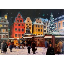 "Swedish Christmas Market Advent Calendar from Sweden ~ 11-5/8"" x 8-1/4"""