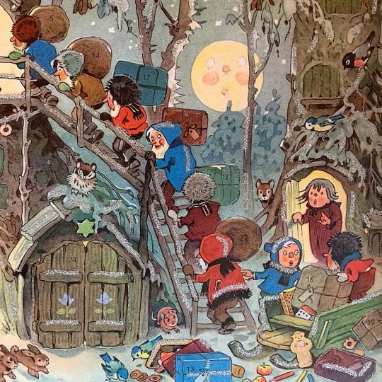 Gnome's Christmas Standing Advent Calendar