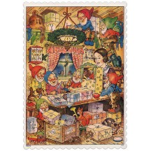 "Snow White and the Seven Dwarves Advent Calendar ~ 8-1/4"" x 5-3/4"""