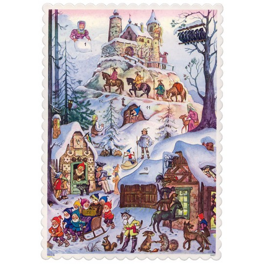 "Fairy Tale Characters Advent Calendar ~ 8-1/4"" x 5-3/4"""