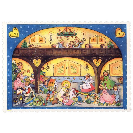 "The Angels Gallery Advent Calendar ~ 8-1/4"" x 5-3/4"""