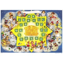 """Little Angels, Children and Toys with Star Advent Calendar ~ 8-1/4"""" x 11-5/8"""""""