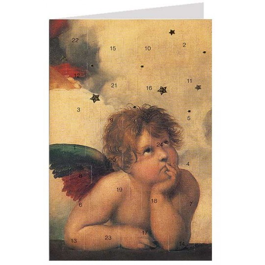 "Raffael's Angel Advent Calendar Card from Austria ~ 6-3/4"" x 4-1/2"""