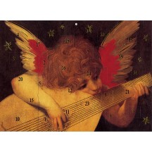 "Renaissance Angel Musician Advent Calendar from Austria ~ 11-1/4"" x 8-1/4"""