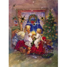 "Christmas Wishes Advent Calendar from Austria ~ 11-1/4"" x 8-1/4"""