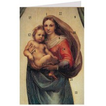 "Raffael's Sixtinische Madonna Advent Calendar Card from Austria ~ 6-3/4"" x 4-1/2"""