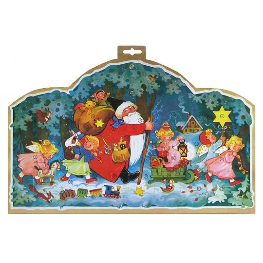 Fillable Advent Calendar from Germany with Santa and Angels
