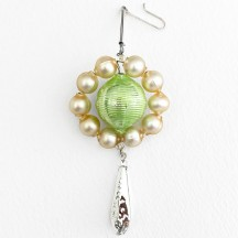 "Elegant Victorian Drop Glass Bead Christmas Ornament ~ 4-1/2"" long ~ Czech Republic"