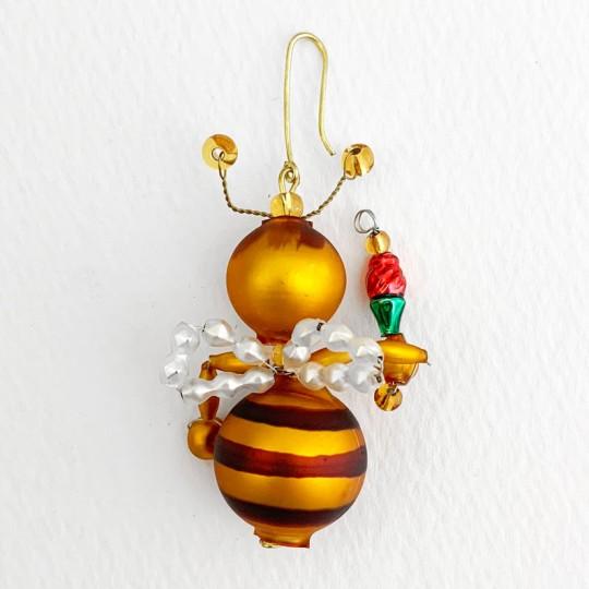 "Beaded Little Bee Ornament ~ 2"" ~ Czech Republic"