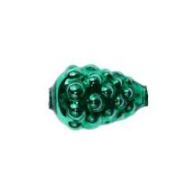 """3 Green Berry or Grape Glass Beads 1"""" ~ Czech Republic"""