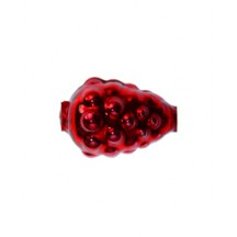 "3 Red Berry or Grape Glass Beads 1"" ~ Czech Republic"