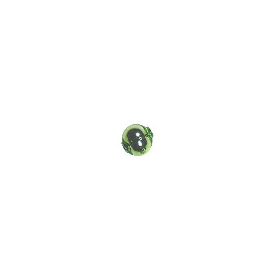 15 Lime Green Round Glass Beads 10 mm ~ Czech Republic