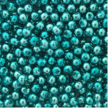 15 Aqua Round Glass Beads 10 mm ~ Czech Republic