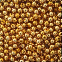 15 Gold Round Glass Beads 10 mm ~ Czech Republic