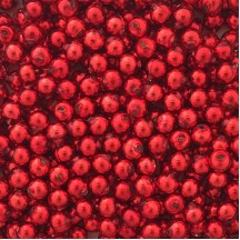 15 Red Round Glass Beads 10 mm ~ Czech Republic