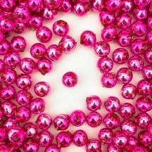 15 Hot Pink Round Glass Beads 10 mm ~ Czech Republic