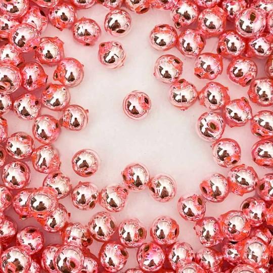 15 Light Pink Round Glass Beads 10 mm ~ Czech Republic