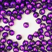 15 Purple Round Glass Beads 10 mm ~ Czech Republic