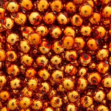 12 Copper Round Glass Beads 12 mm ~ Czech Republic