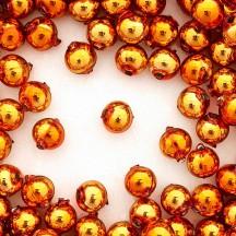 12 Copper Round Glass Beads 12 mm ~ Czech Republic