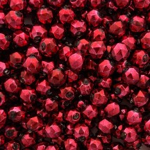 8 Burgundy Faceted Ball Blown Glass Beads 13mm ~ Czech Republic