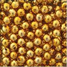 10 Glossy Gold Round Glass Beads 14 mm ~ Czech Republic