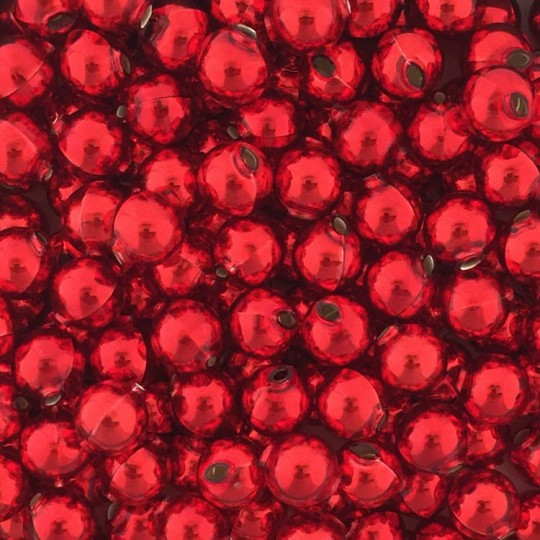 10 Glossy Red Round Glass Beads 14 mm ~ Czech Republic