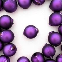 8 Matte Purple Round Glass Beads 18 mm ~ Czech Republic