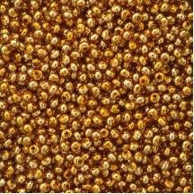 30 Gold Round Glass Beads 6 mm ~ Czech Republic