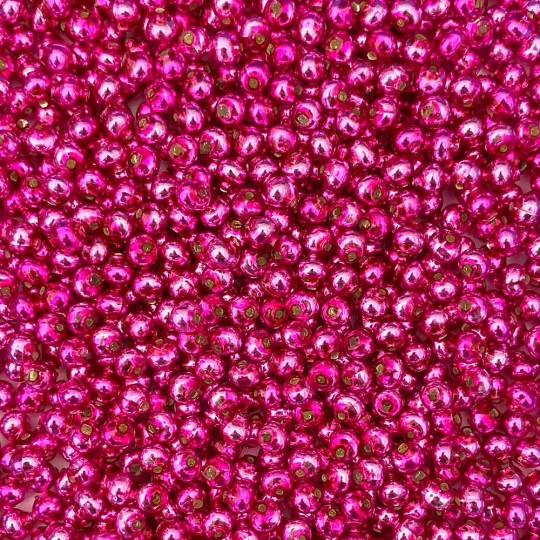 30 Hot Pink Round Glass Beads 6 mm ~ Czech Republic