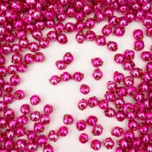 30 Hot Pink Round Glass Beads 6 mm ~ Czech Republic