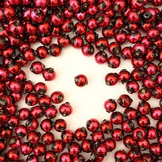 30 Burgundy Round Glass Beads 8 mm ~ Czech Republic