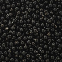 30 Black Round Glass Beads 8 mm ~ Czech Republic