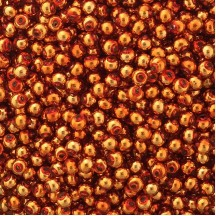30 Copper Round Glass Beads 8 mm ~ Czech Republic