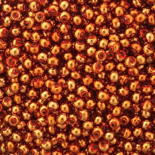 30 Copper Round Glass Beads 8 mm ~ Czech Republic