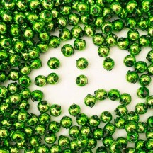 30 Lime Green Round Glass Beads 8 mm ~ Czech Republic