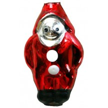 """Extra Large Red Snow Elf Figural Glass Bead 2-1/4"""" ~ Czech Republic"""