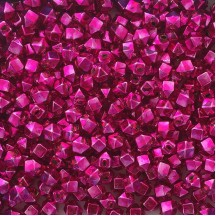 10 Hot Pink Faceted Cube Blown Glass Beads 10mm ~ Czech Republic