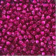 10 Hot Pink Faceted Cube Blown Glass Beads 10mm ~ Czech Republic