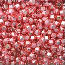 10 Light Pink Faceted Cube Blown Glass Beads 10mm ~ Czech Republic