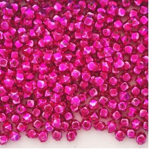 10 Hot Pink Faceted Cube Blown Glass Beads 8mm ~ Czech Republic