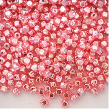 10 Light Pink Faceted Cube Blown Glass Beads 8mm ~ Czech Republic