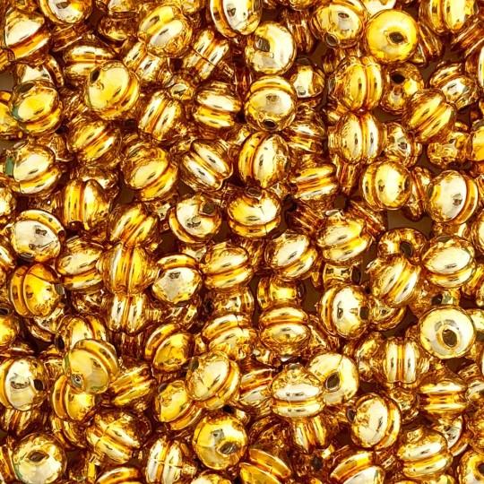 6 Gold 12 mm Double Disc Beads ~ Czech Republic