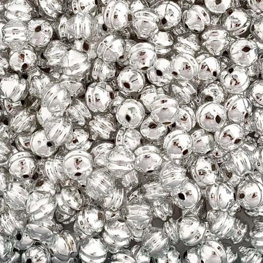 6 Silver 12 mm Double Disc Beads ~ Czech Republic