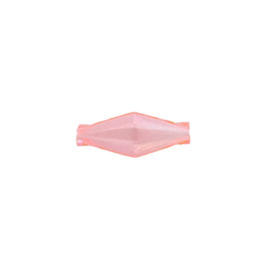 """7 Clear Light Pink Diamond Cut Blown Glass Beads 1"""" ~ Czech Republic"""