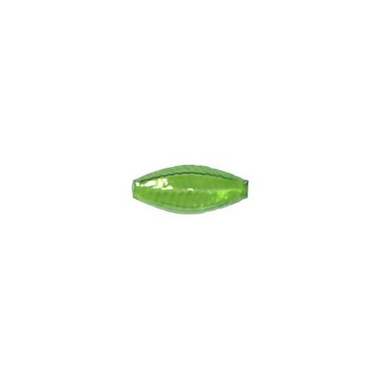 """6 Clear Green Fancy Seed Blown Glass Beads 7/8"""" ~ Czech Republic"""