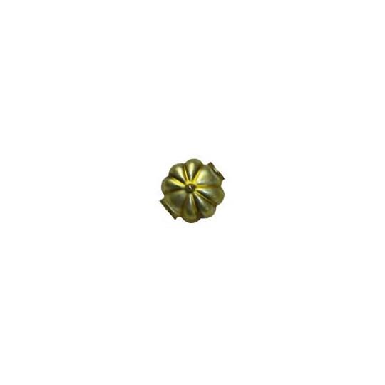 """7 Matte Chartreuse Fancy Flower Blown Glass Beads .625"""" ~ Czech Republic"""