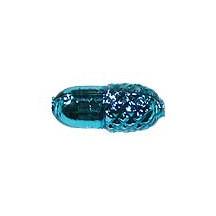 "6 Aqua Acorn Blown Glass Beads .75"" ~ Czech Republic"