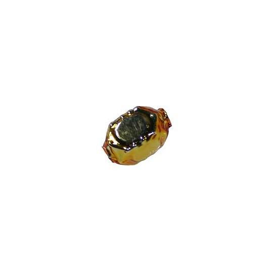 "8 Small Gold Faceted Cube Blown Glass Beads .5"" ~ Czech Republic"